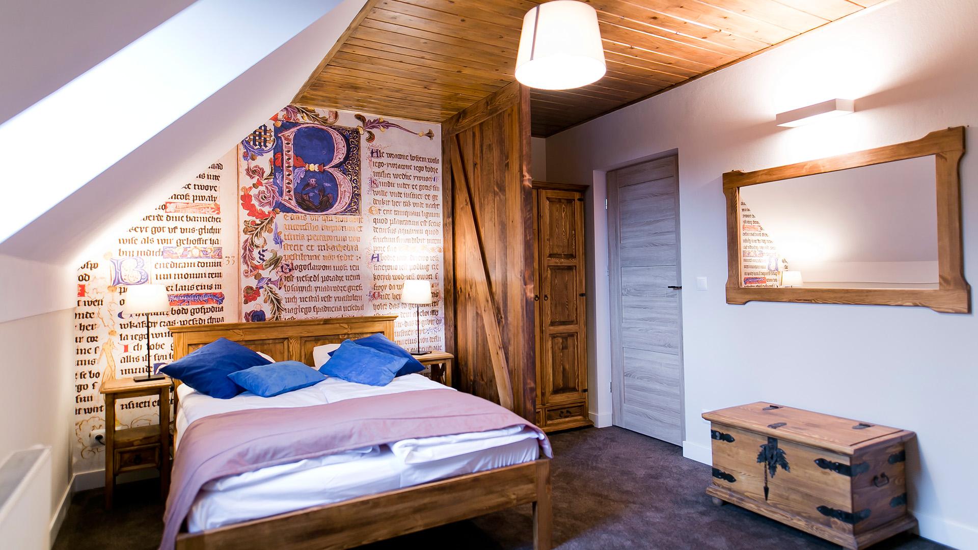 Wnętrze pokoju Floriański Psałterz